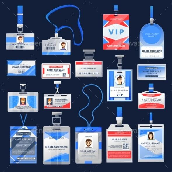 ID Card or Badge Mockups Identification Name Tags (1)