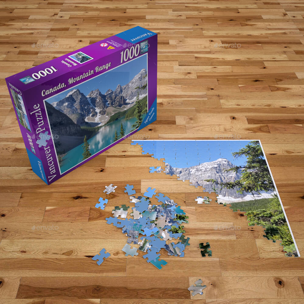 Jigsaw Puzzle and Box Mock-Up (1)