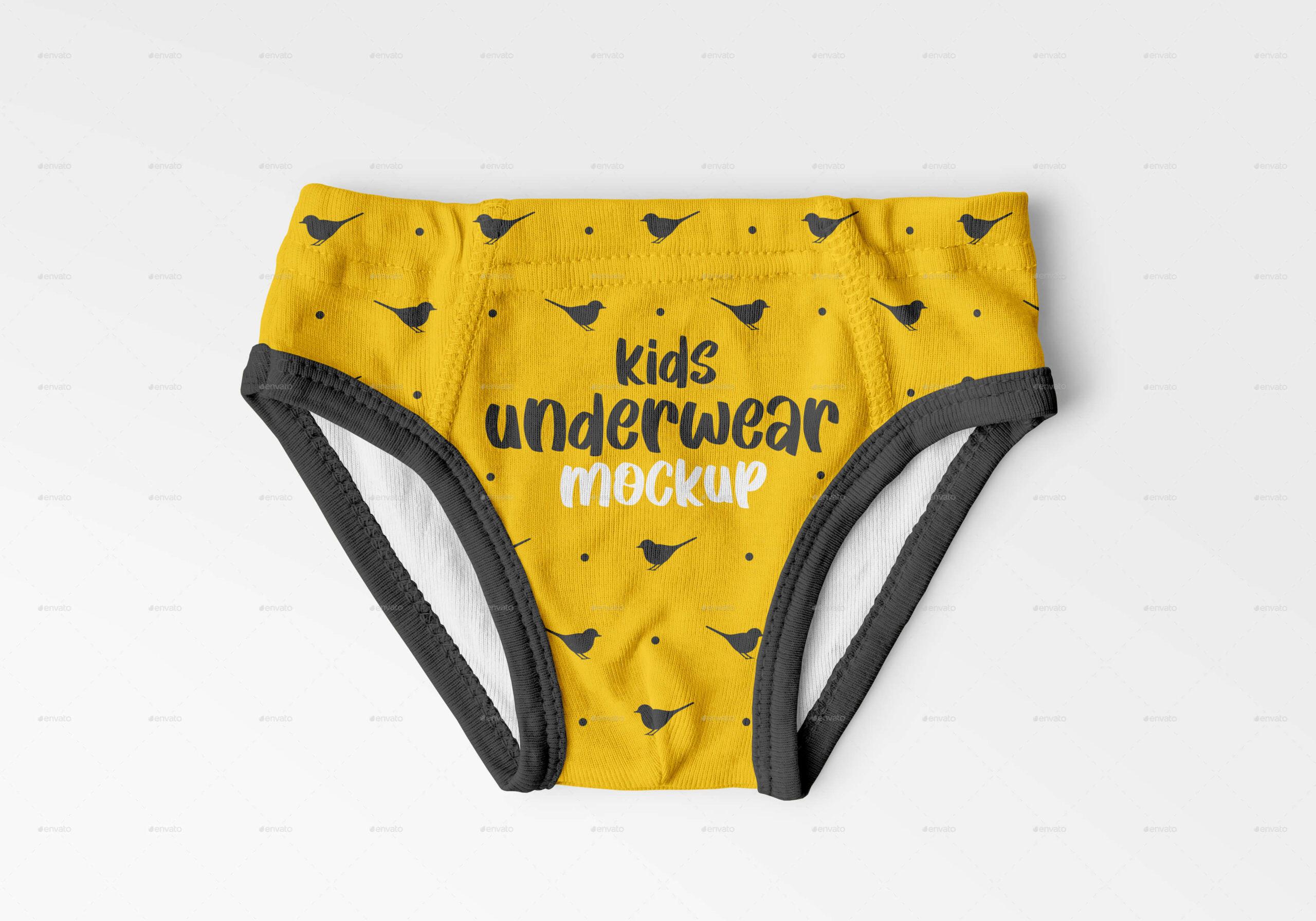 Kids Underwear Mockup Set (1)
