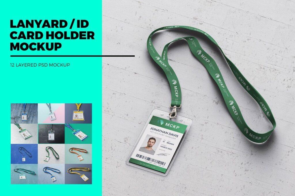 Lanyard ID Card Holder MockUp (1)