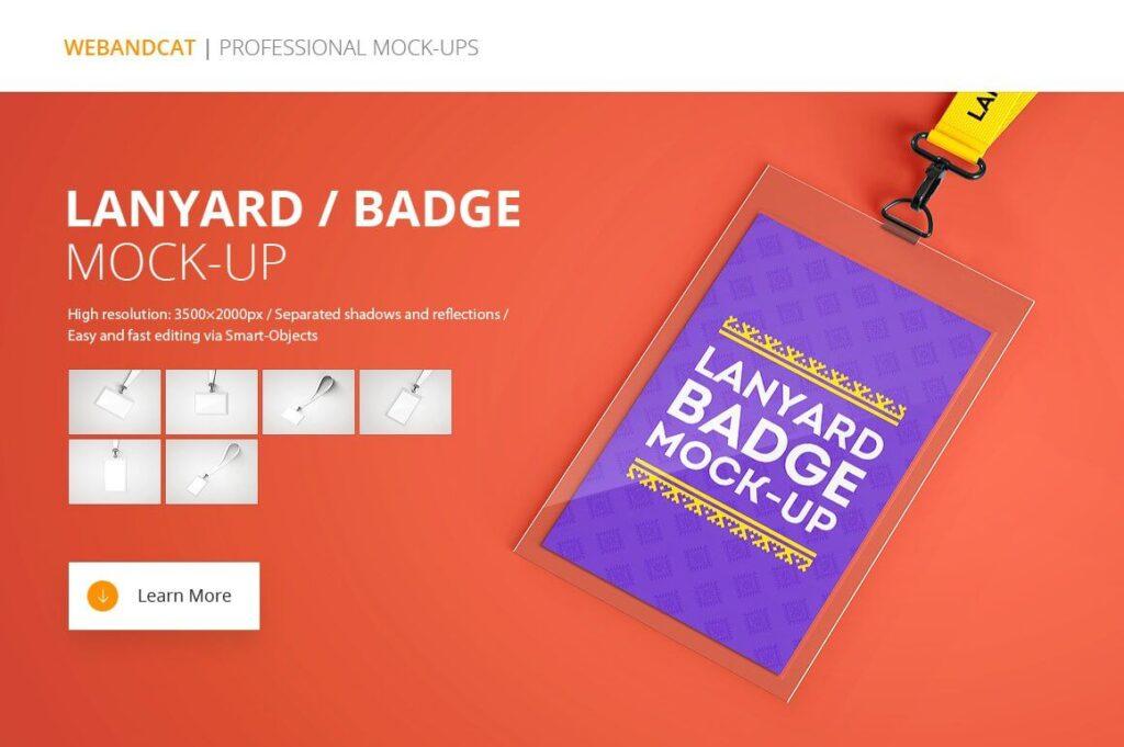 Lanyard Name Tag Badge Mockup (4)
