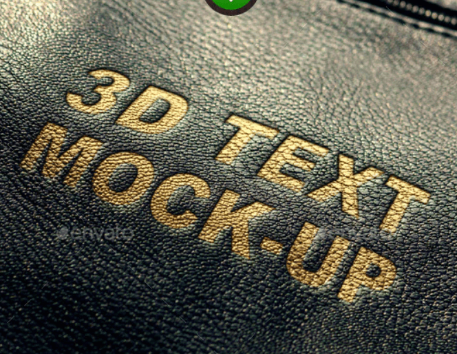 Leather Text Mockup