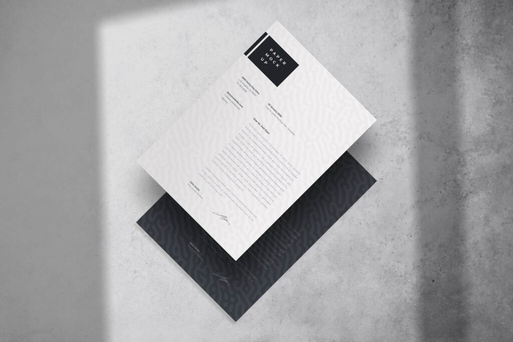 Letter A4 Paper Mockup PSD Template (1)