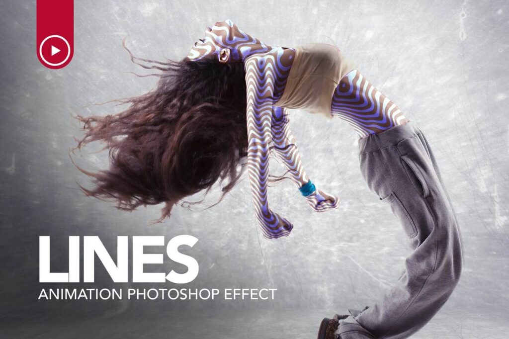 Lines Animation Photoshop Action (1)