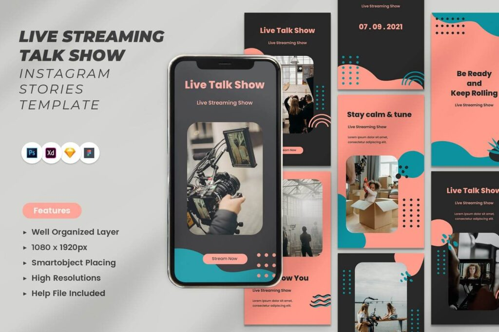 Live Streaming Talk Show Instagram Stories (1)