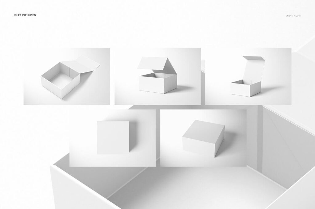 Magnetic Gift Box Mockup Set 02 (2)