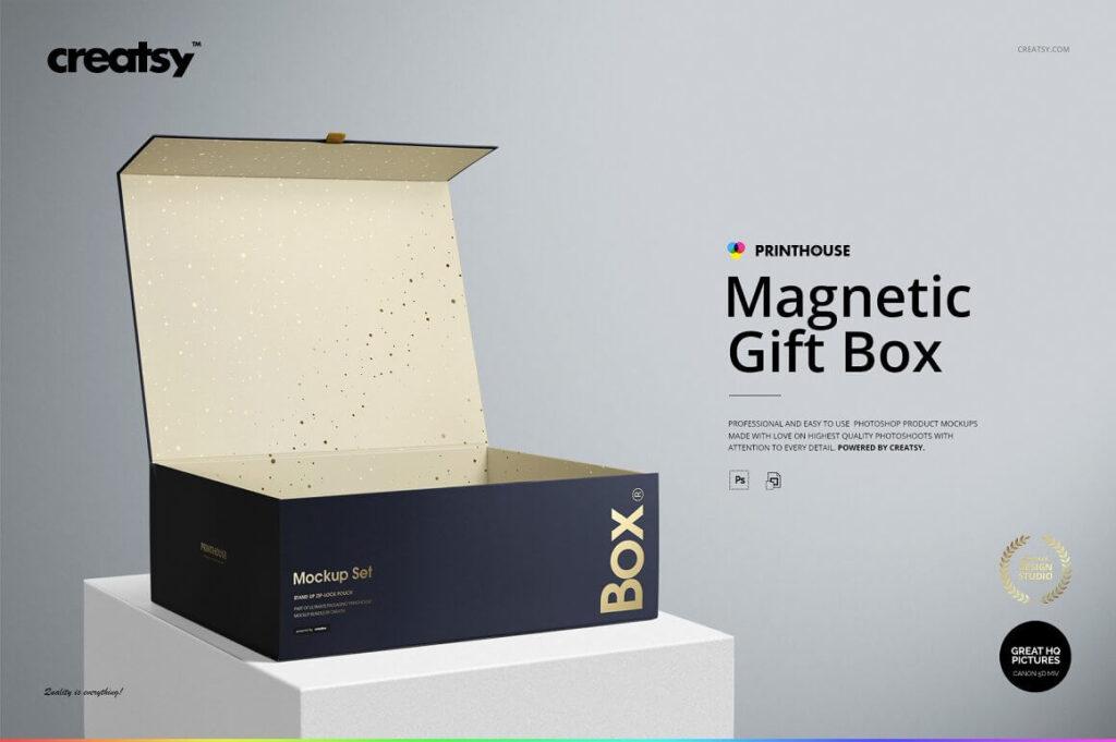Magnetic Gift Box Mockup Set (2)