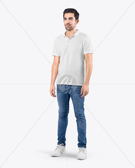 Man in T-Shirt and Jeans Mockup (1)