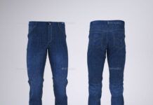 Man's Denim Jeans or Trousers Mock-Up (1)
