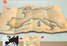 Map Illustrator & Mock Up Template