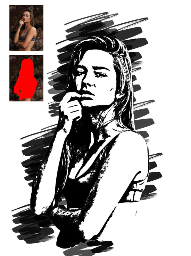 Marker Drawing Photoshop Action (1)
