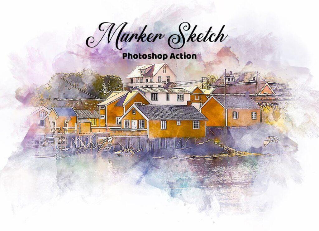 Marker Sketch Photoshop Action3 (1) (1)