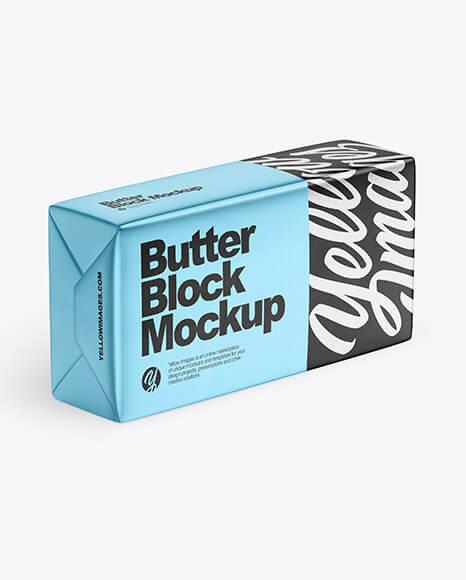 Matte Metallic Butter Block Mockup (1)