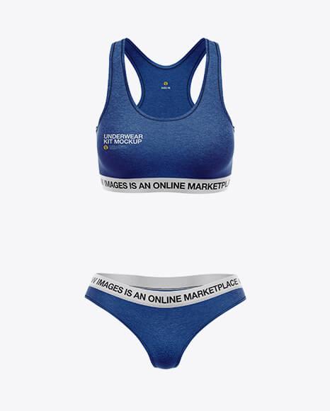 Melange Women`s Underwear Kit Mockup - Front View (1)