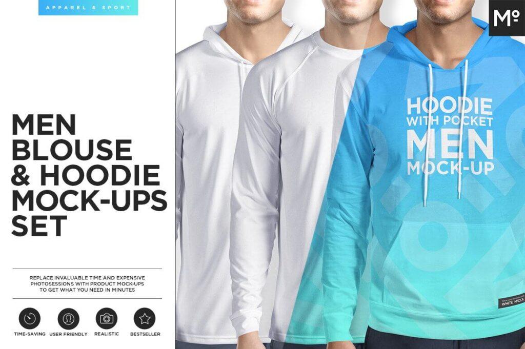 Men Hoodie & Blouse 3 Types Mock-ups (1)