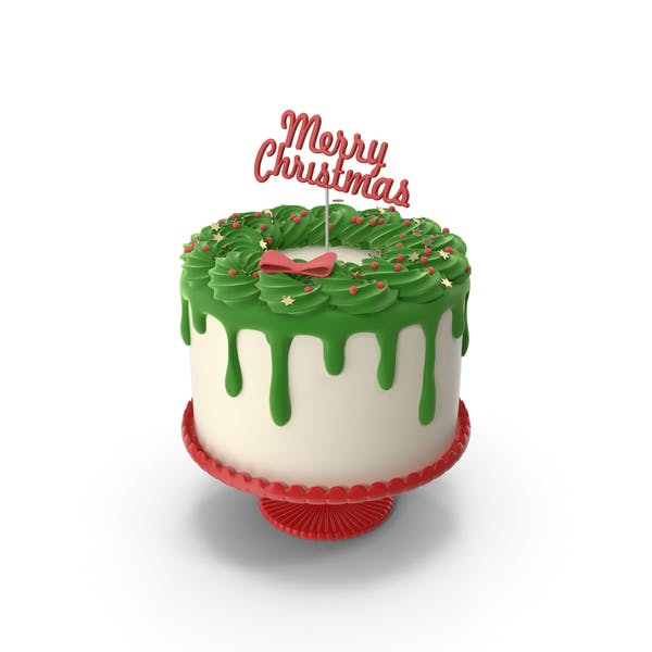 Merry Christmas Cake with Topper Merry Christmas (1)