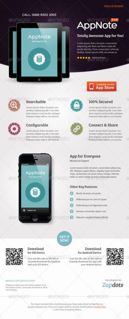 Mobile App E-Newsletter PSD Templates (1)