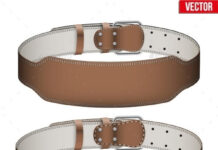 Mockup Weightlifting GYM Leather Belt (1)