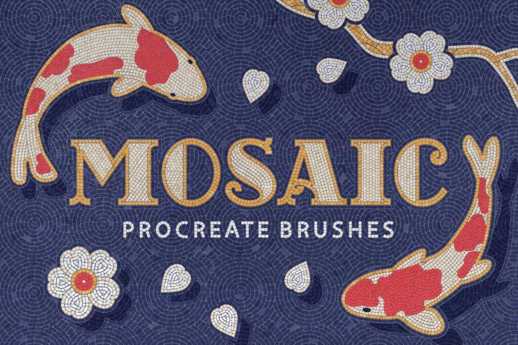Mosaic Tile Procreate Brushes (1)