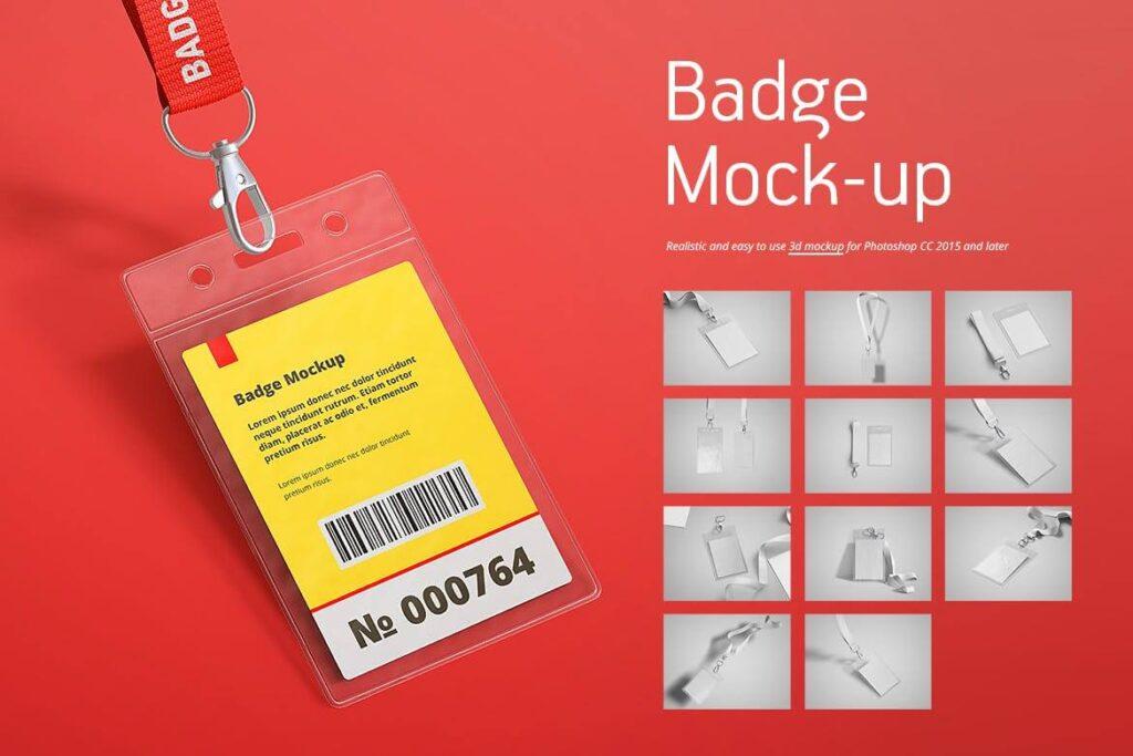 Name Tag Badge Mock-up (1)