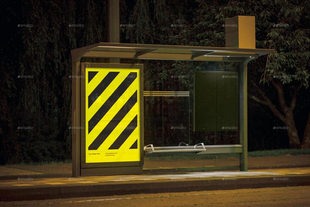 Night Bus Stop Poster Mockup (1)