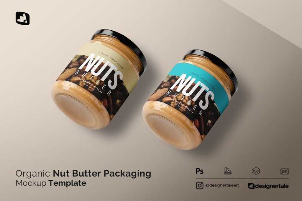 Organic Nut Butter Packaging Mockup (1)