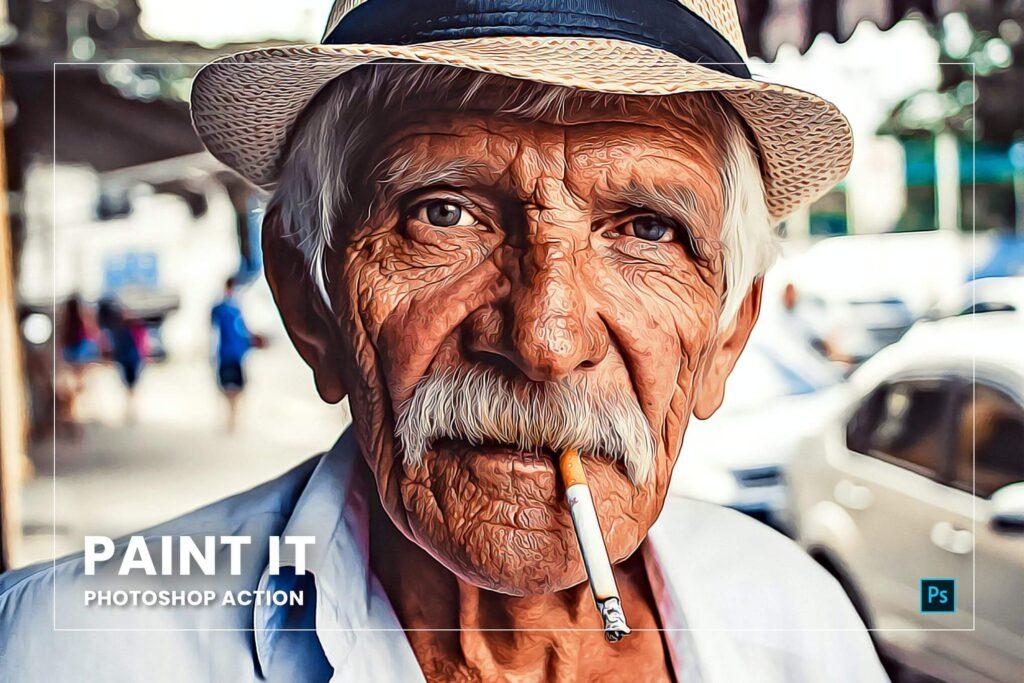 Paint It Photoshop Action (1)