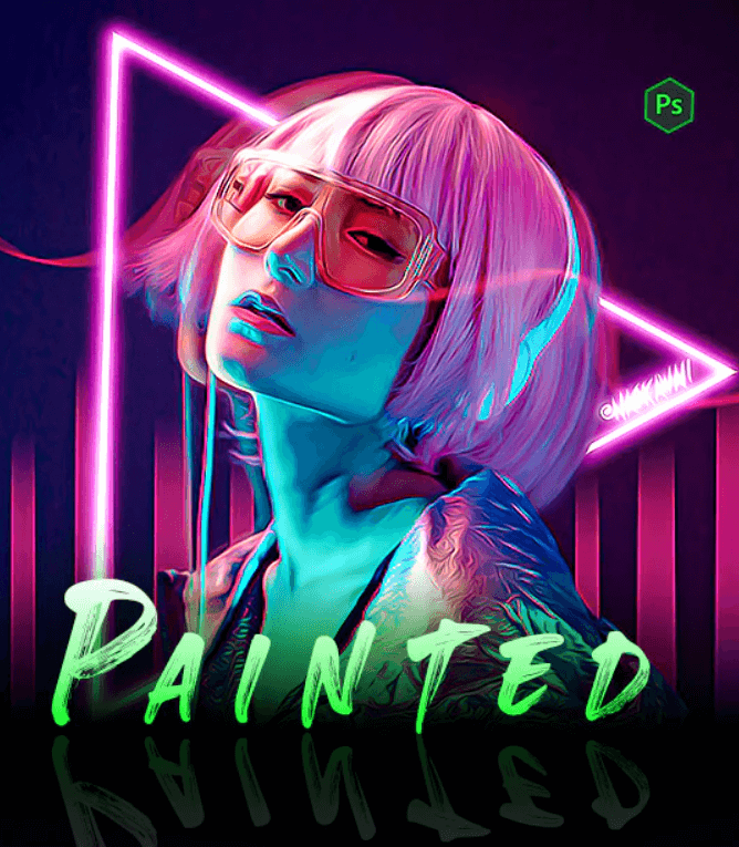 Painted - Photoshop Action