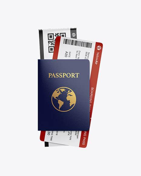 Passport w Tickets Mockup (1)