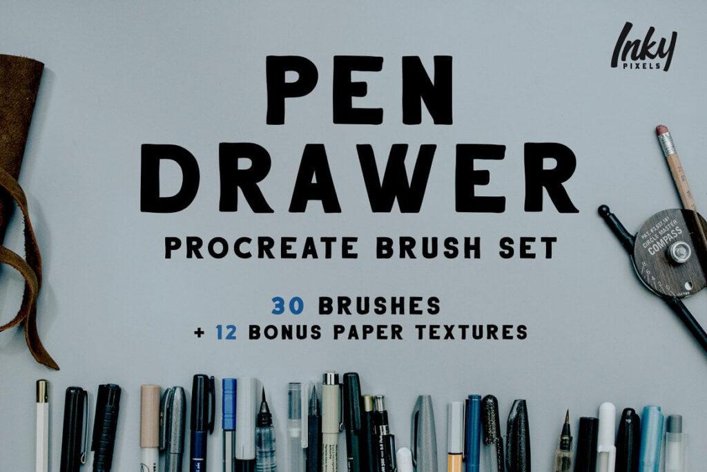 Pen Drawer Procreate Brush Set (1)