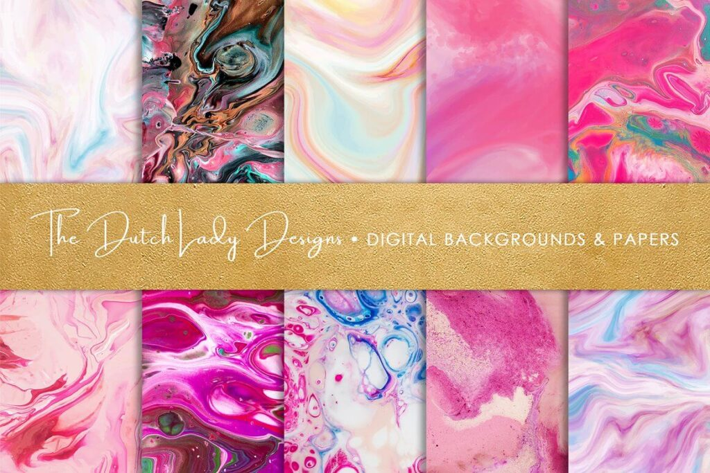Pink Marble & Swirl Backgrounds (1)