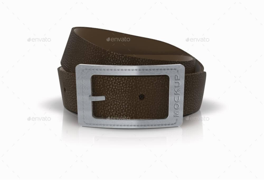 Plaque Leather Belts Buckle Logo Mockup (1)