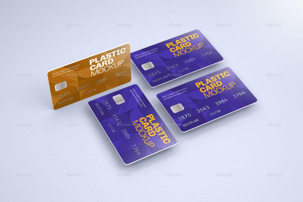 Plastic Card Mockup Set (1)