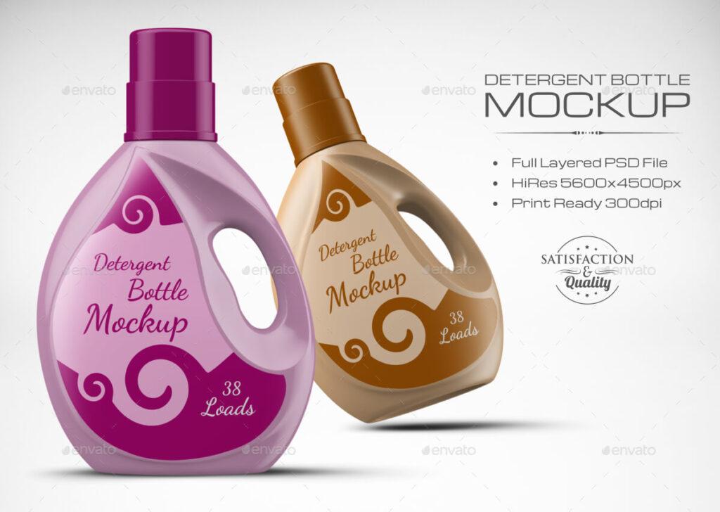 Plastic Detergent Bottle Mockup (1)