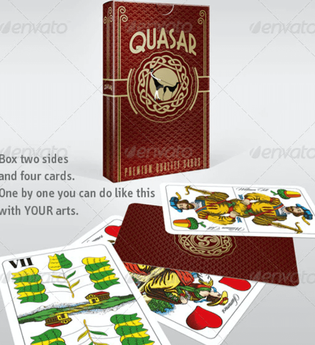Playing Card - Business Card and Box Mockup