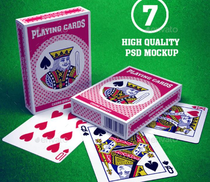 Playing Cards & Box Mockup