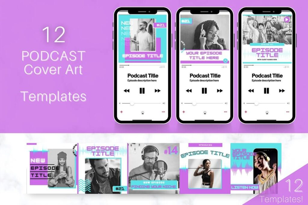 Podcast COVER ART Template Bundle (1)