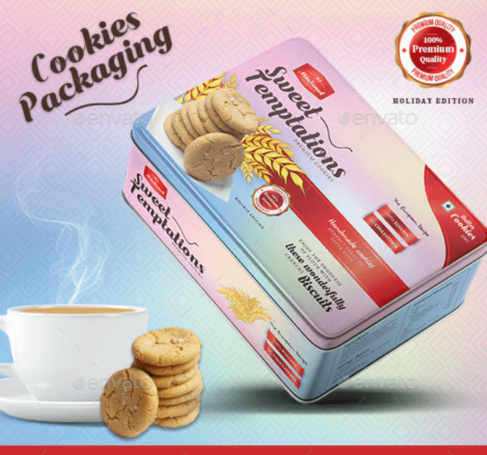 Premium Butter Cookies Packaging