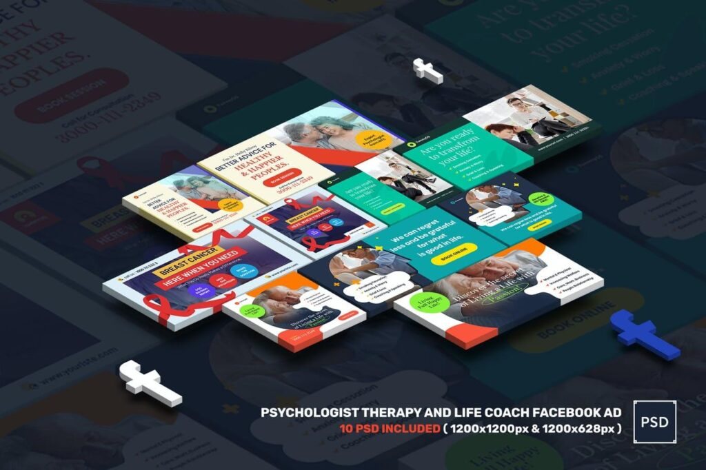 Psychologist Therapy and Life Coach Facebook Ad (1)