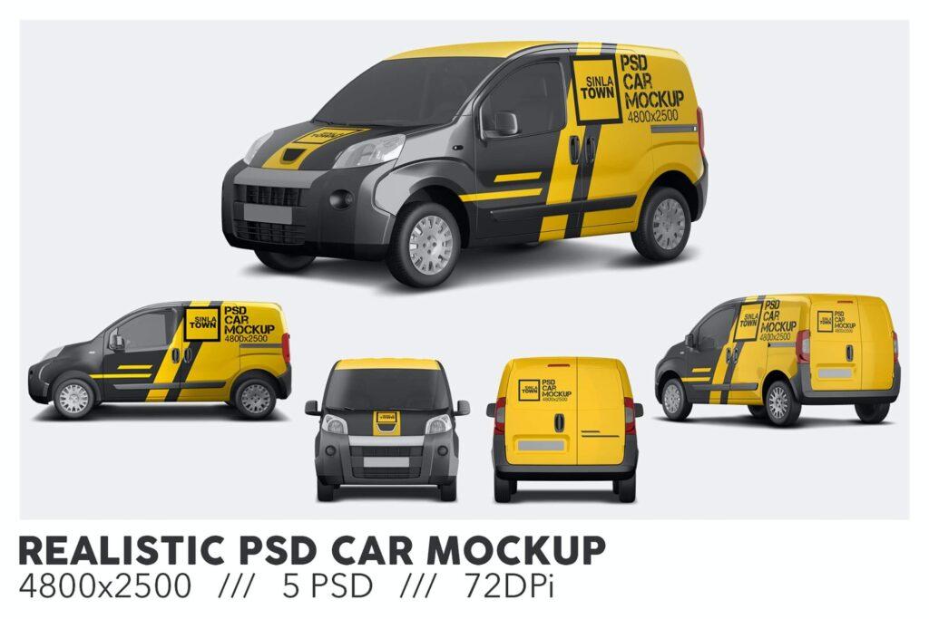 Realistic PSD Car Mockup (1)