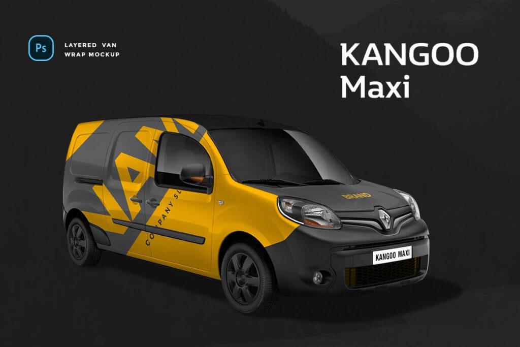 Renault Kangoo Maxi Van Wrap Mockup (1)