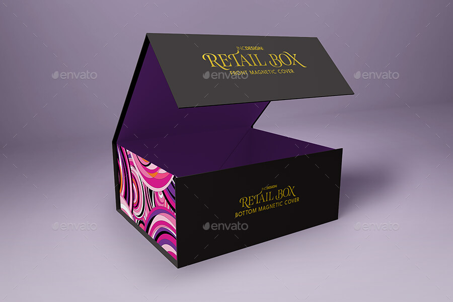Retail Boxes Vol. Magnetic Box Packaging Mock Ups (1)