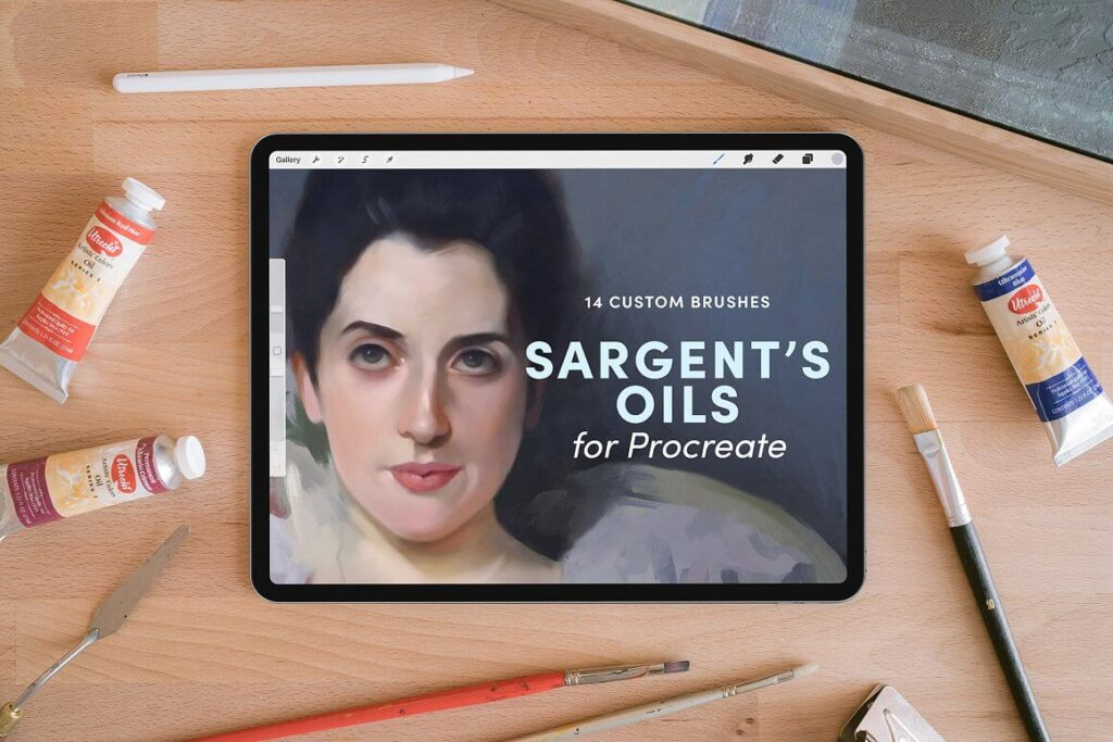 Sargent's Oils – Procreate Brushes (1)