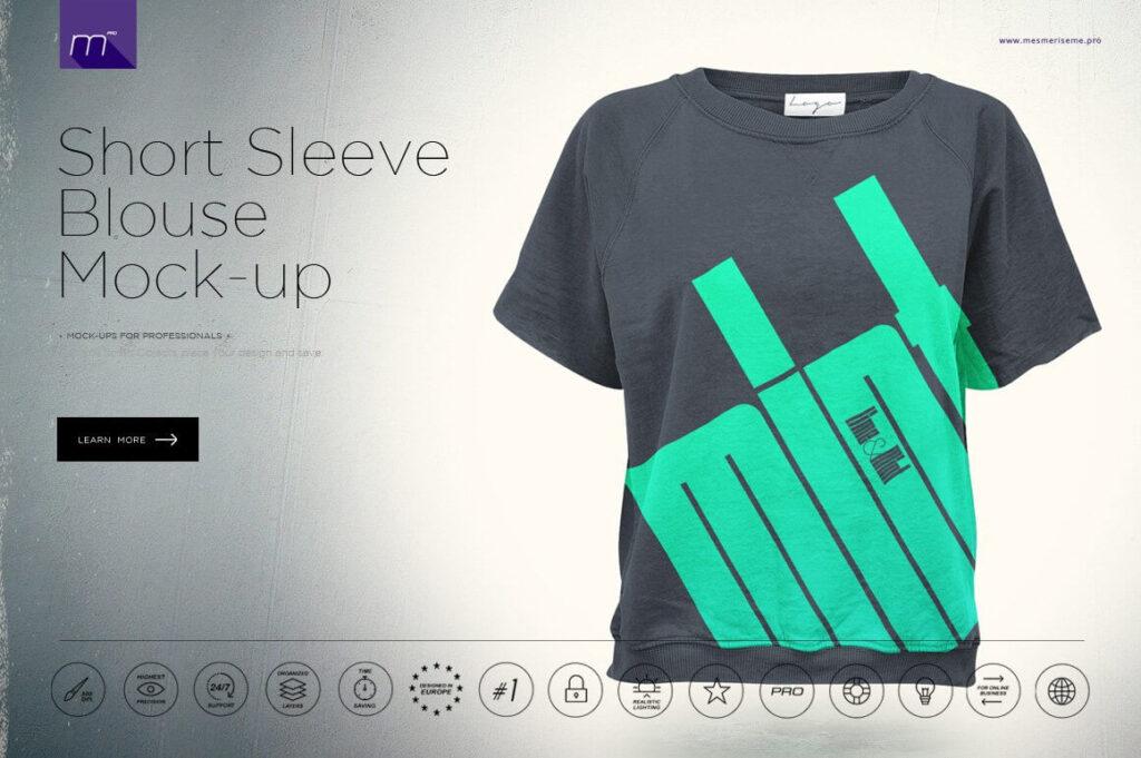 Short Sleeve Blouse Mock-up (1)