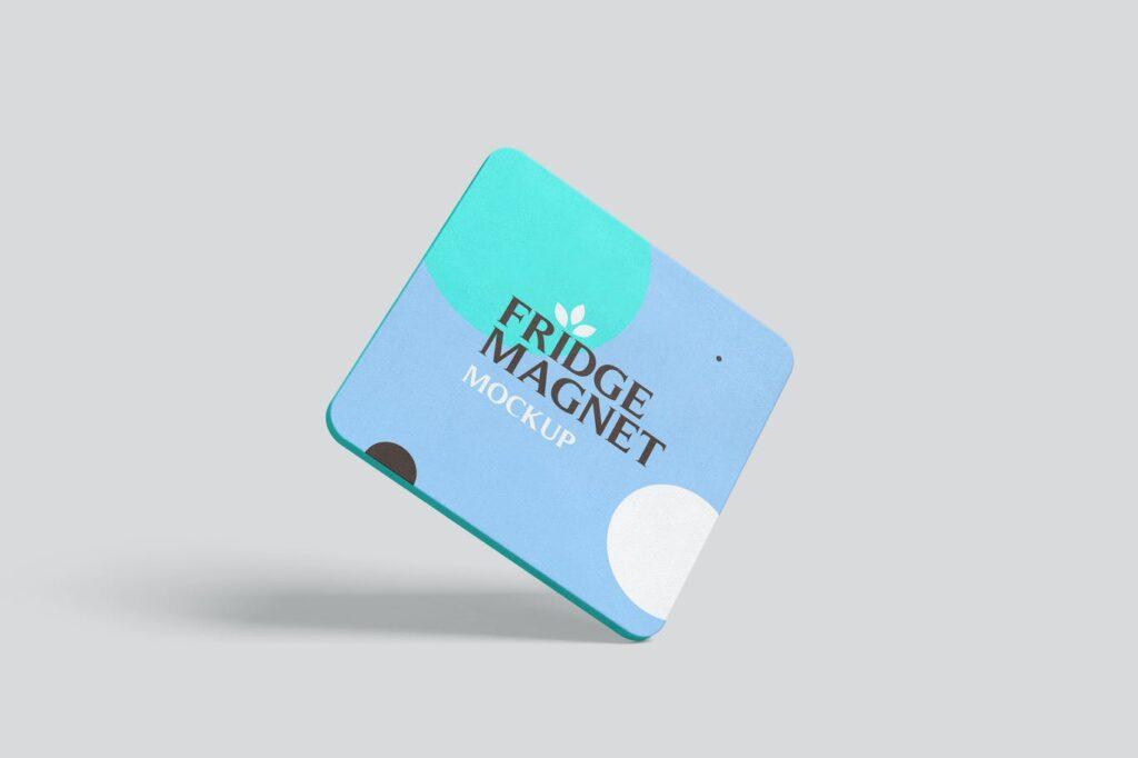 Square Shape Fridge Magnet Mockups (1)
