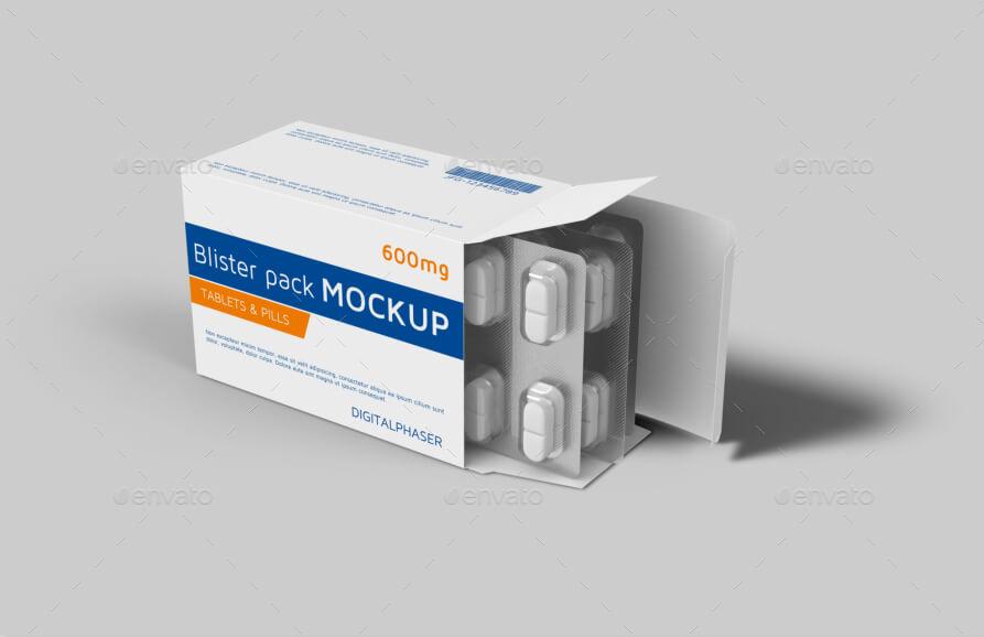 Tablets Capsule Blister Pack Box Mockup (1)