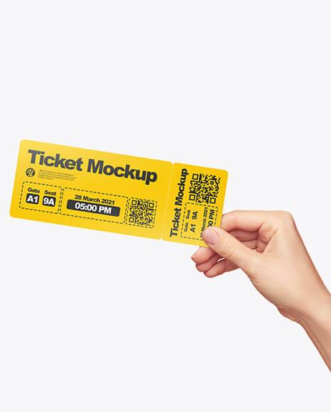 Baseball Tickets PSD Design Template
