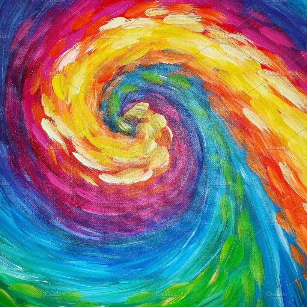 Tie Dye Swirl Acrylic Paint (1)