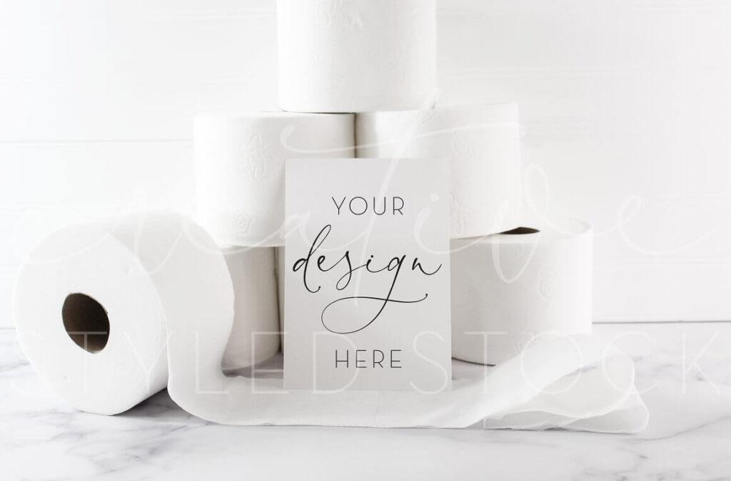 Toilet Paper 5x7 Card Mockup (1)