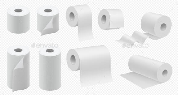 Toilet Paper Roll. Vector Kitchen Paper Towel (1)